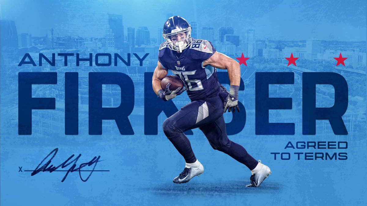 #Titans agree to terms with tight end Anthony Firkser Details ✍🏽 » bit.ly/2OOLEmw