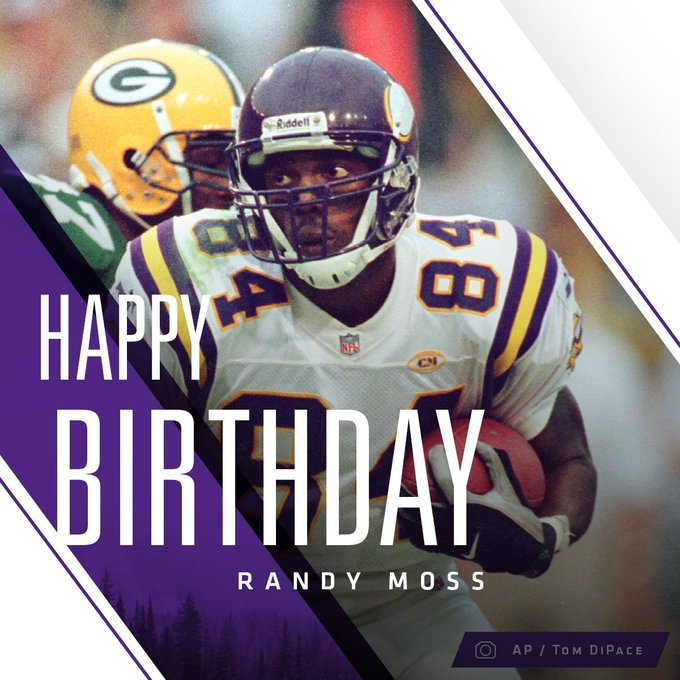 Happy birthday to the main man Randy Moss!  Comment below with your favourite memory of Randy Moss