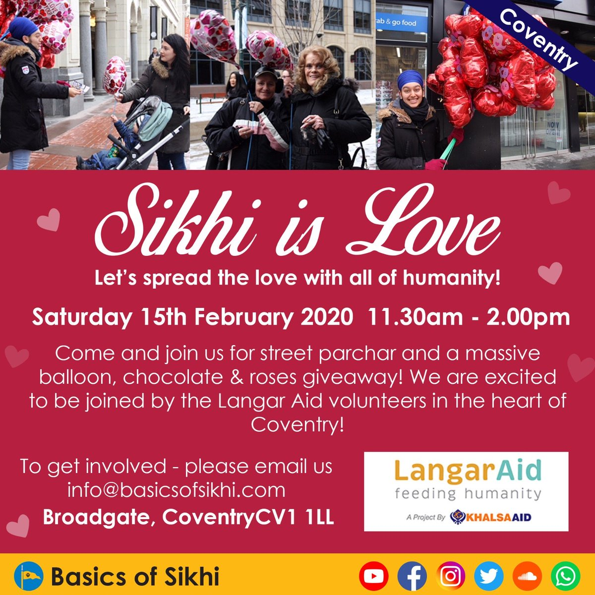 SATURDAY IN COVENTRY... Join @LangarAid to spread the love and share a gift and more!