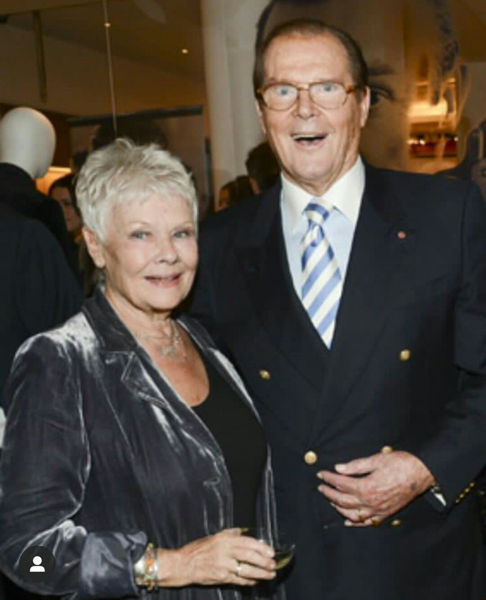Ex M actor Judi Dench and Ex Bond actor Roger Moore. #JamesBond  #Rogermoore #Judidench <br>http://pic.twitter.com/Wsr6qz15rR