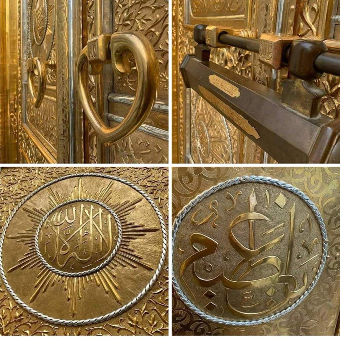 Ma Sha Allah Beautiful Pictures of Kaaba Door  #JummahMubarak <br>http://pic.twitter.com/hKnM1KHCAF