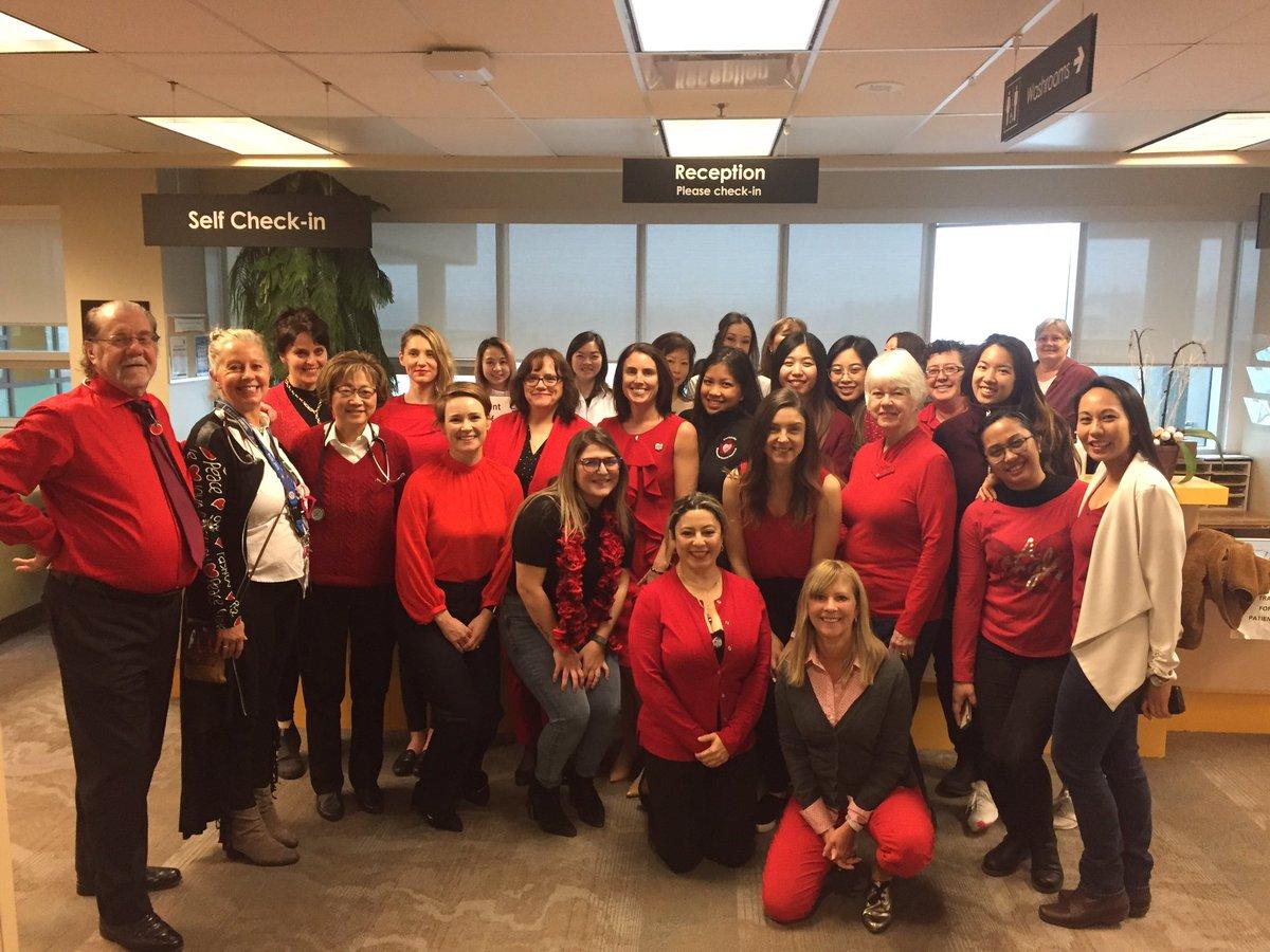 #WearRedCanada #HerHeartMatters at Vancouver General Hospital