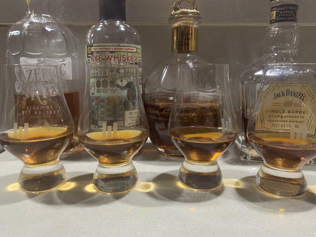 Bourbon/rye/whiskey time. Cheers y'all  #jackliveshere #jackdanielswhiskey #sazeracrye #boutiqueywhiskey #blantonsgoldpic.twitter.com/aDLMRpYu8g