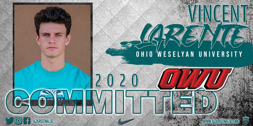 Congrats to 2020 Grad @VinJXL Vincent Larente of @dvmenssoccer on his commitment to @OhioWesleyan @OWUMSOC   #pathway2college #pathway2life #bleeedTEAL https://t.co/wYv2bKeL1A