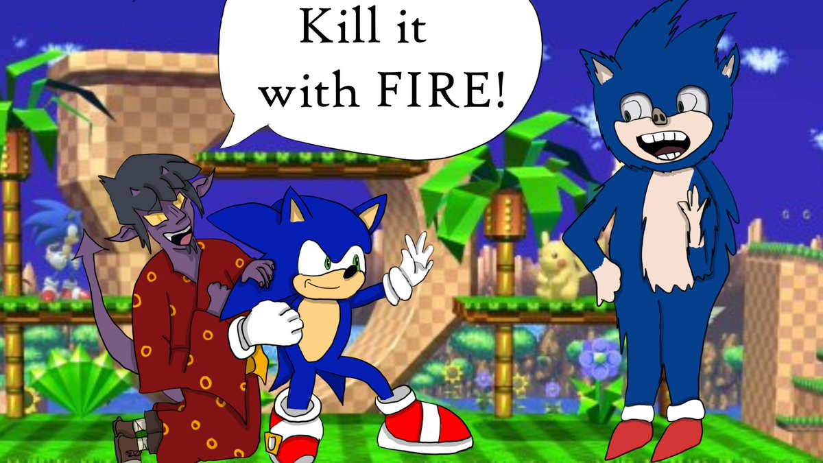 #SonictheHedgehog movie drops tomorrow! Who all is excited? I know we are, so have a cursed image. @rejectedjokes we are very happy to have the change in design. #Sonic #DnD #SonicMania #DungeonsandDragons #DnDpodcast #Audiodrama #Sonicliveaction #SonicMovie #SonicOC #Sonicfanartpic.twitter.com/0dThqblZ1Z