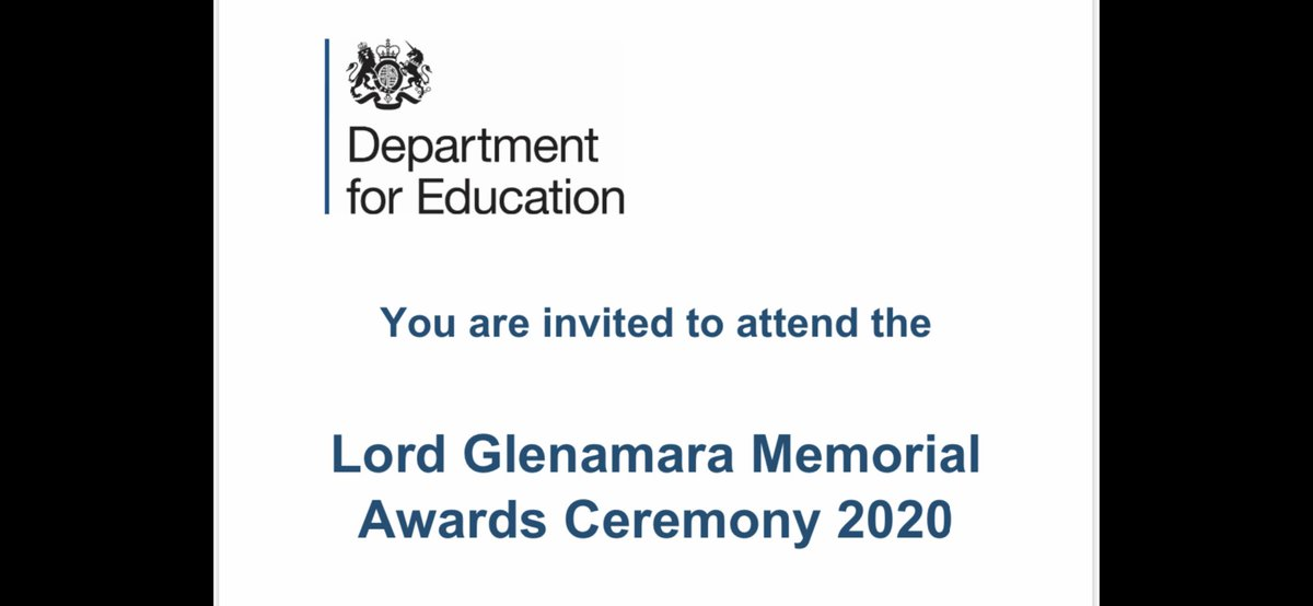 So nice to be nominated and receive an award for excellence in English