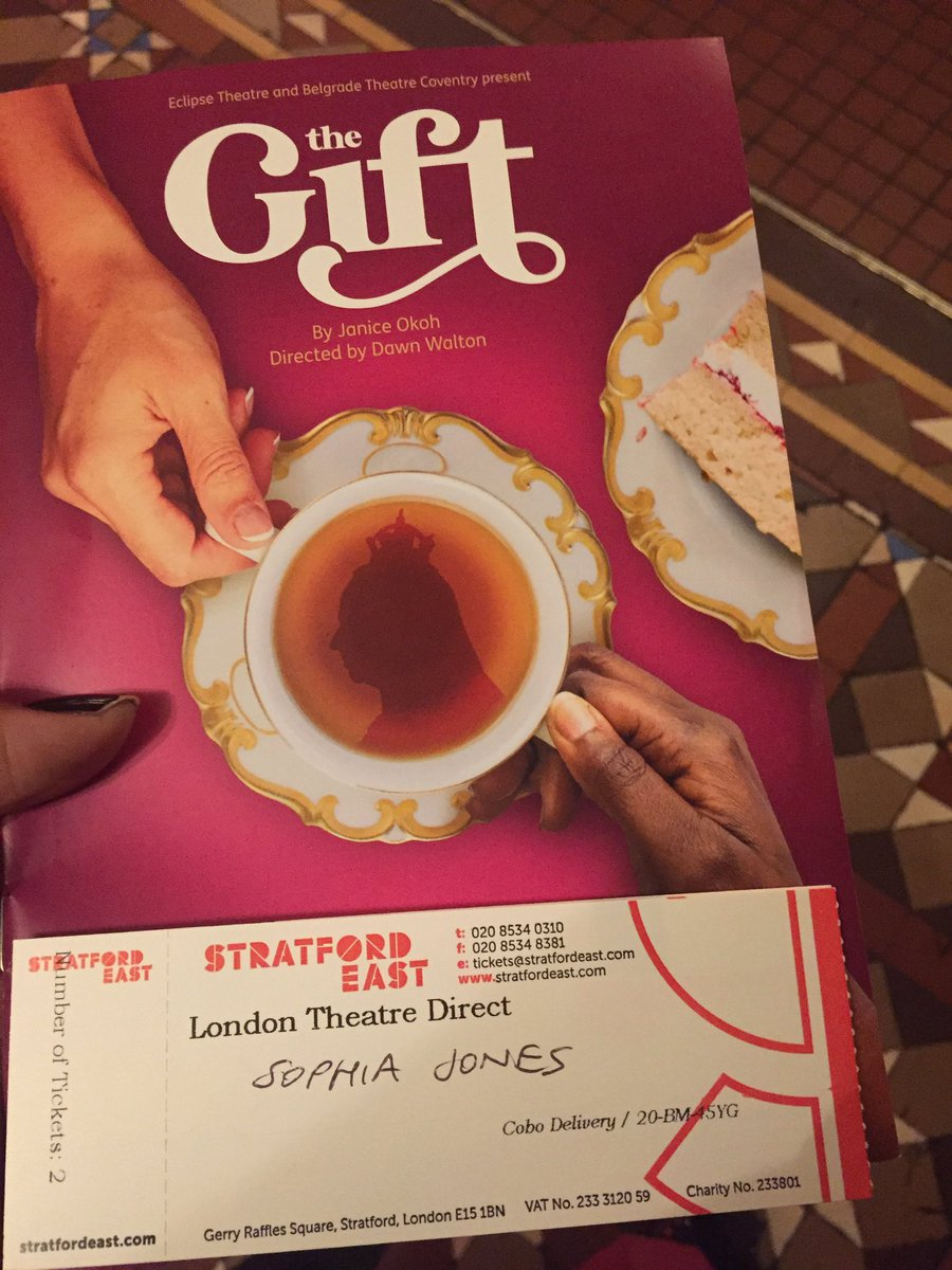 Looking forward to watching this in a few minutes. @stratfordeast @JaniceOkoh #TheGift