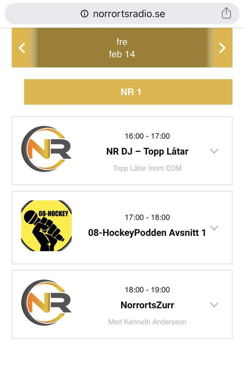 Fredageftermiddag på NorrortsRadio! #lokalradio #webbradio #lokalkännedompic.twitter.com/spP2STu6nk