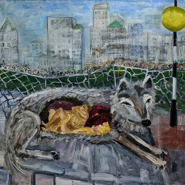"""Comfort Barriers"" #oiloncanvas #oilpaint #art #newart #contemporaryart  #workingartist #paintings #studio #wolf #Brooklyn  #zebracrossing  @delphiangallery #delphianopencall https://ift.tt/3bxuqnbpic.twitter.com/WOyGi1h9qR"