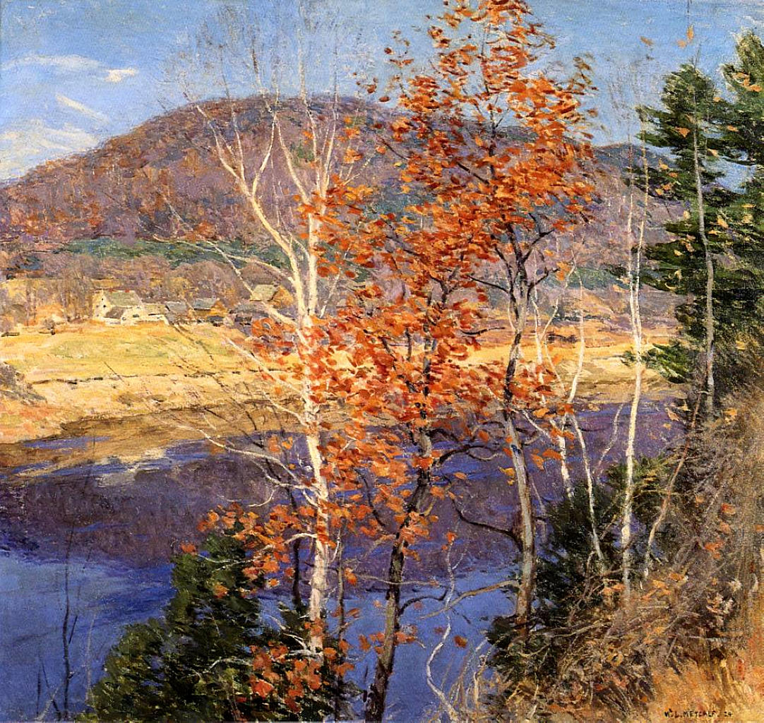 Closing Autumn, 1924 #impressionism #metcalf