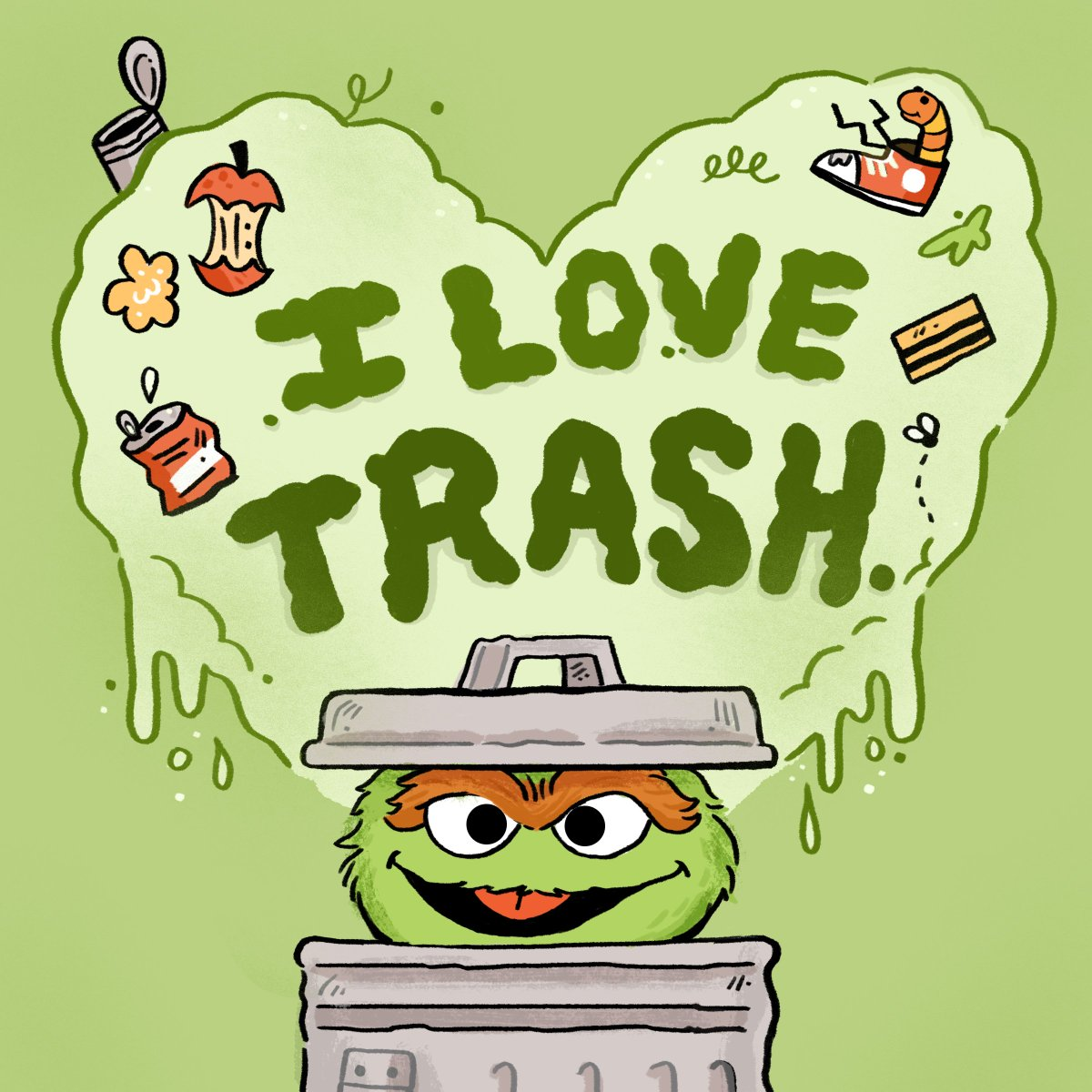 Even grouches can find something to love for Valentine's Day!💚
