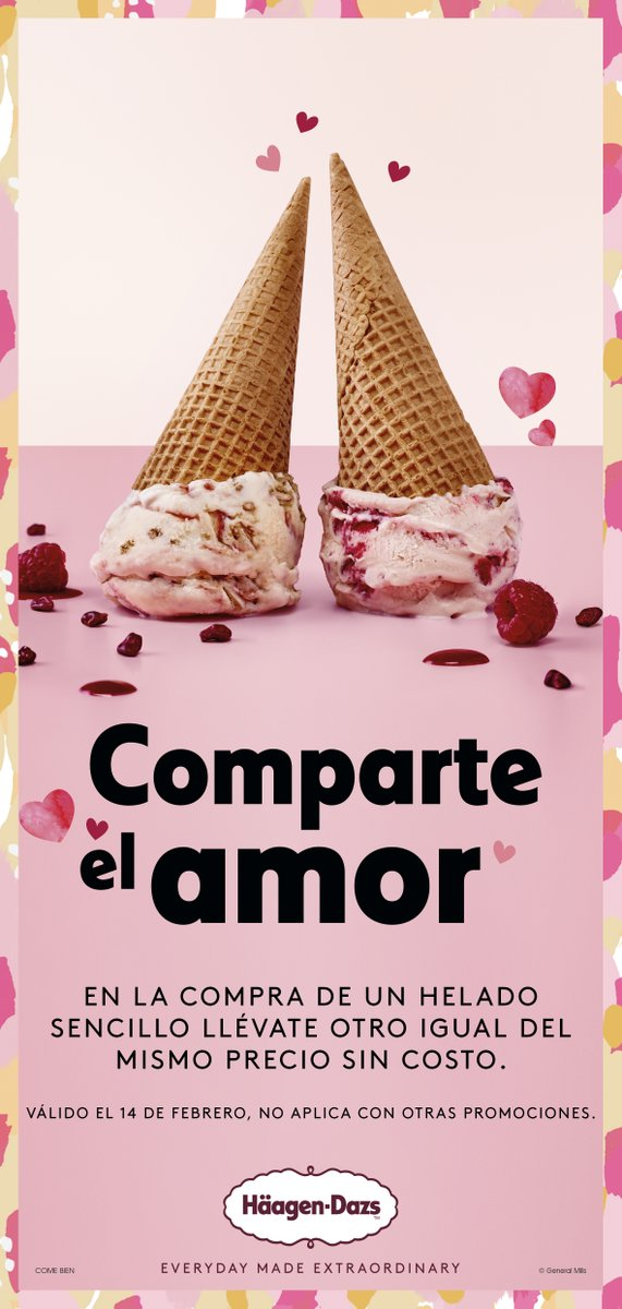 ❤️#ParaCompartir #Amor  #14Febrero ❤️en Häagen-Dazs en Paseo Acoxpa#unmomentoextraordinario