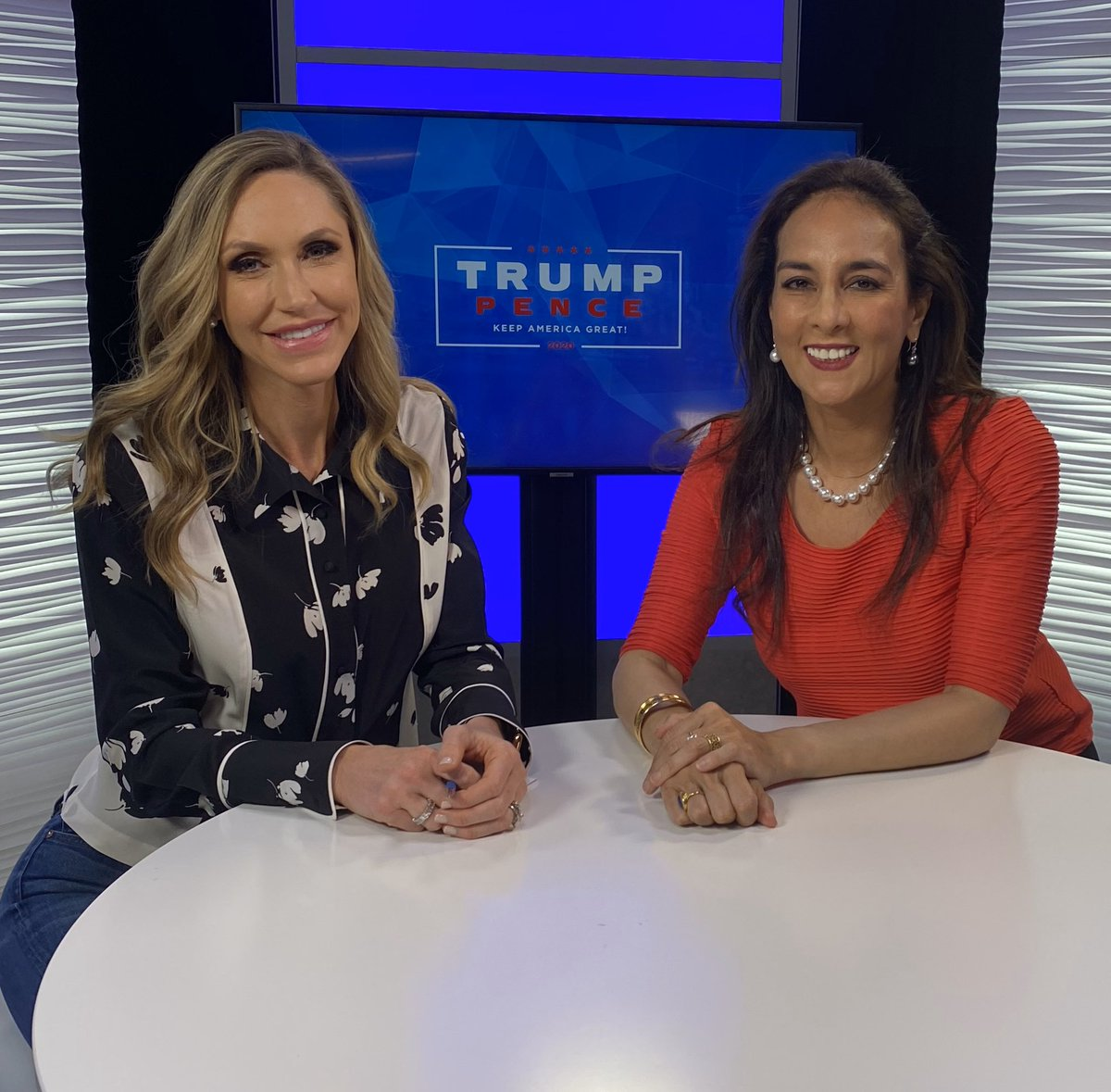 Enjoyed visiting with @LaraLeaTrump at Studio 45 in the Trump Tower to talk Victory2020, Dems in Disarray, #somuchwinning, & more! Thanks Lara for your leadership in making our country great again!