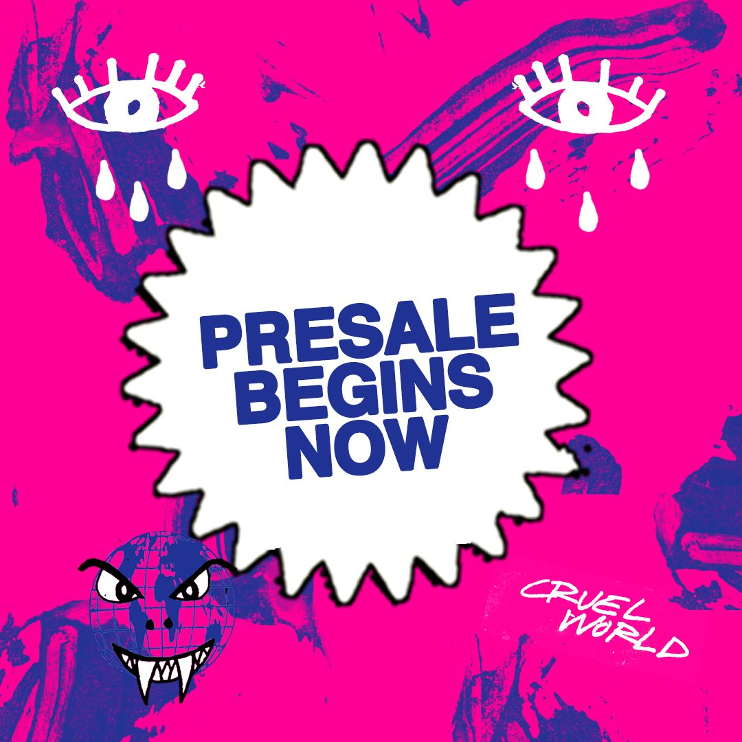 Replying to @cruelworldfest: Presale begins now at  🖤
