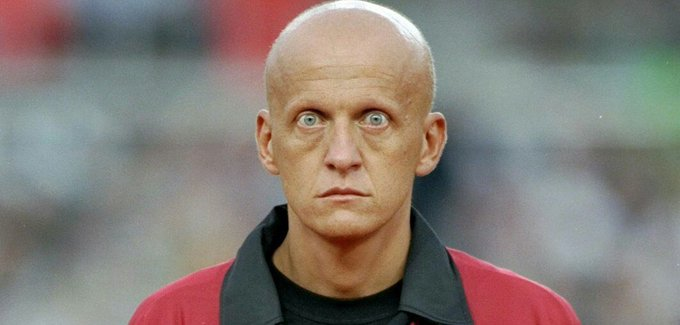 That iconic stare.  The face of Pro Evo 3.  The GOAT of referees.  Happy 60th birthday, Pierluigi Collina.