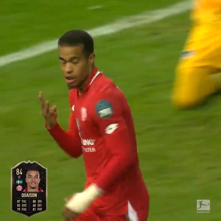 1⃣⚽️ 2⃣⚽️ 3⃣⚽️  A 🎩 trick by Robin Quaison gets him in #TOTW!  @Bundesliga_EN | #FUT20