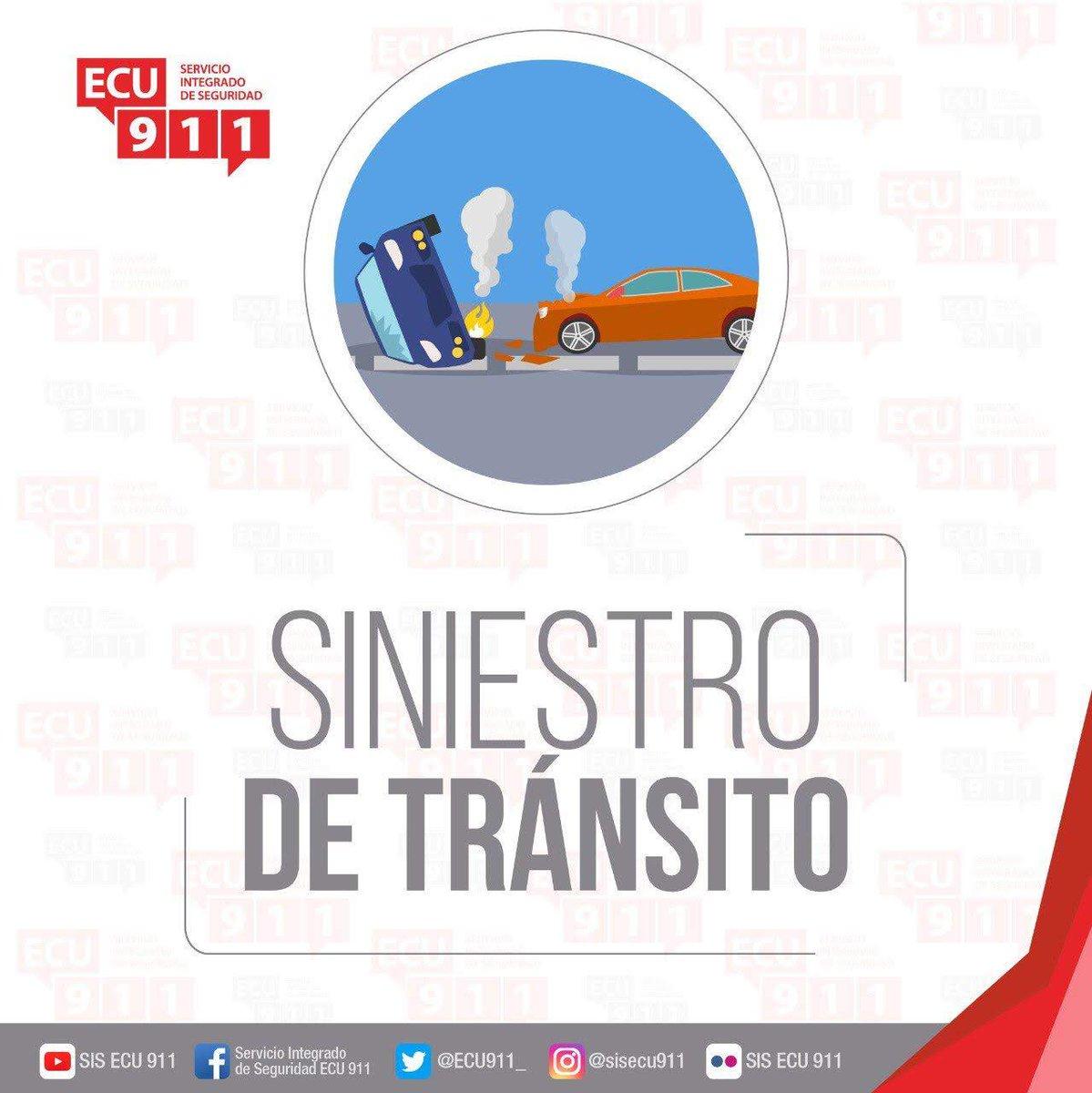 #ECU911Reporta  Se registró una alerta de siniestro de tránsito en #ElTriunfo, vía a Bucay, Recinto La Matilde. Se coordina atención con @CTEcuador y @Salud_CZ5pic.twitter.com/Pj4E3RYkEt