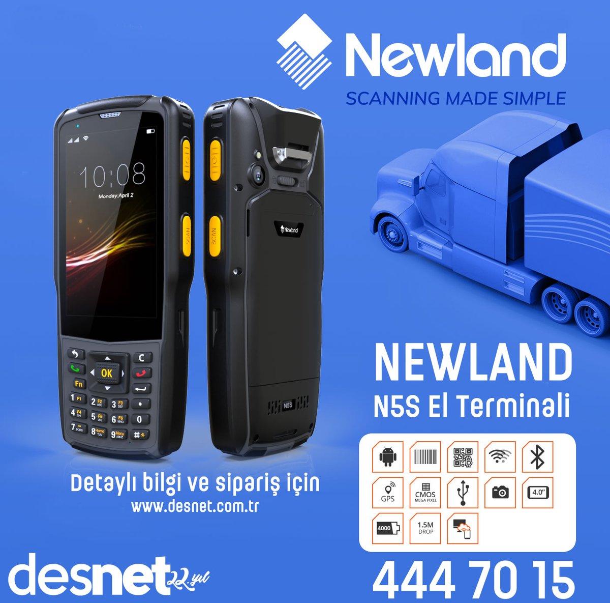 NEWLAND N5S Android El Terminali Desnet'te.  #newland @Newland_AIDC #n5s #elterminali  https://www.desnet.com.tr/urun/newland-n5s-el-terminali/…pic.twitter.com/7dKsRwpoYh