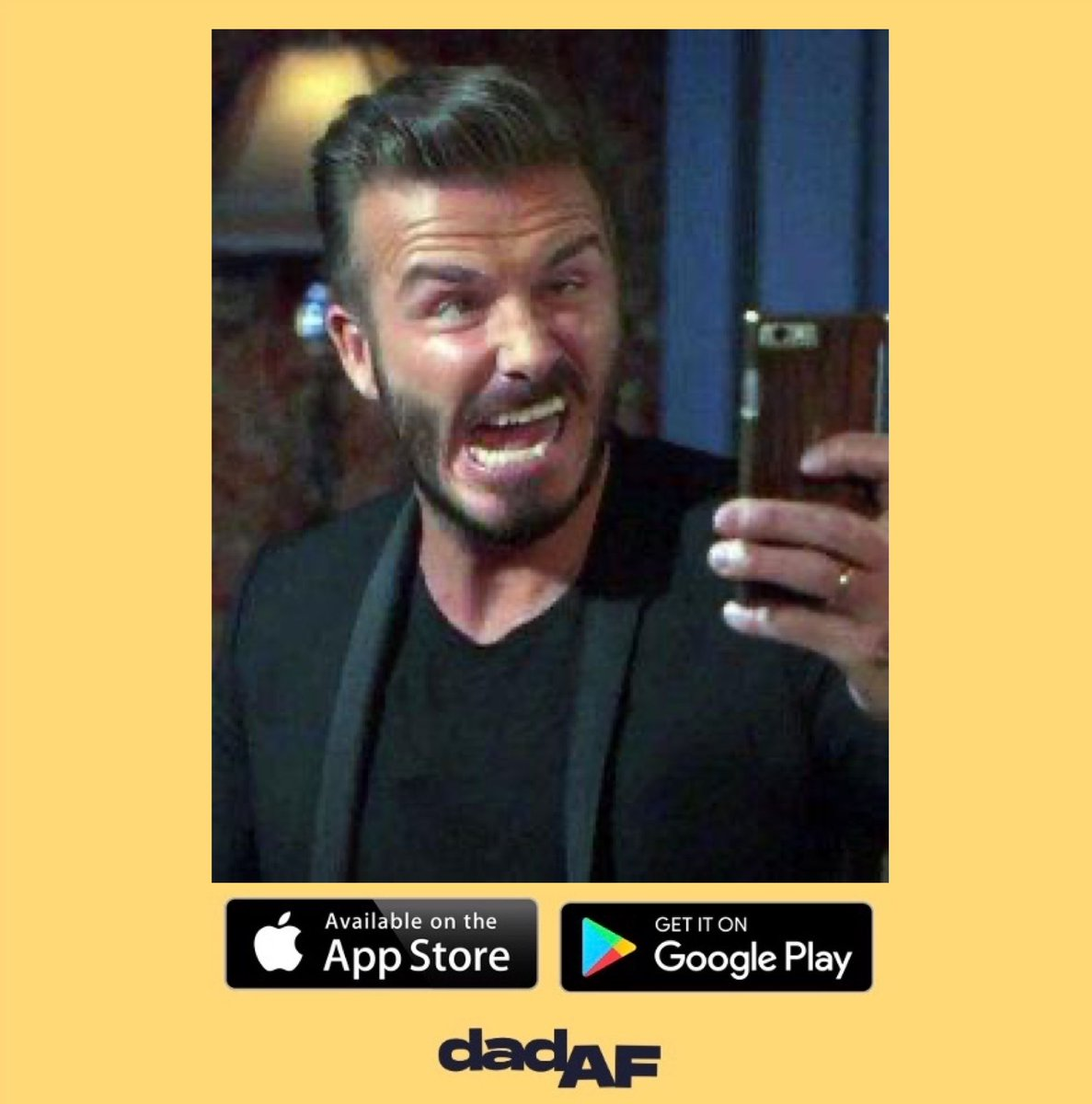 David Beckham taking his profile picture for the Dad AF app... he's a funny guy • • • #dad #dadaf #dadlife #dads #davidbeckham #beckham #england #football #manager #footballplayer #footballcoach #dadcommunity #dadnetwork #footballcommunity #footballdad #footballkids #parentingpic.twitter.com/HfUGx7v2i8