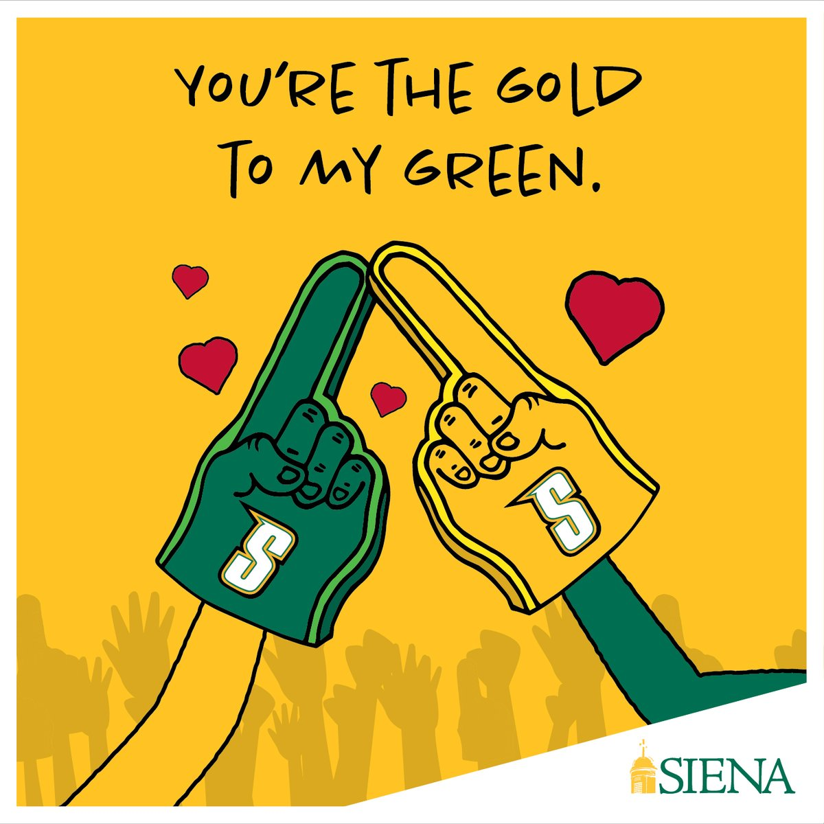 Share some Saint love by tweeting these virtual cards to your friends, family, and valentines! 💛💚