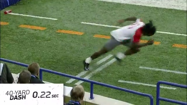 .@ChrisJohnson28's 4.24 40-yard dash at the 2008 #NFLCombine was so fast, the camera couldn't even keep up. 😳  📺: 2020 #NFLCombine starts February 27 on @nflnetwork