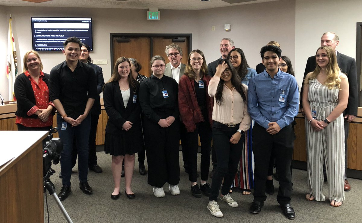 GUHSD Board recognizes the great work our CTE Ambassadors do for our programs @GUHSD_CCR #CTE month