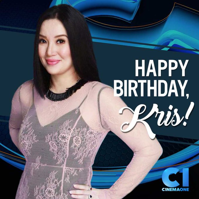 Happy birthday to the Queen of All Media, Kris Aquino (  From