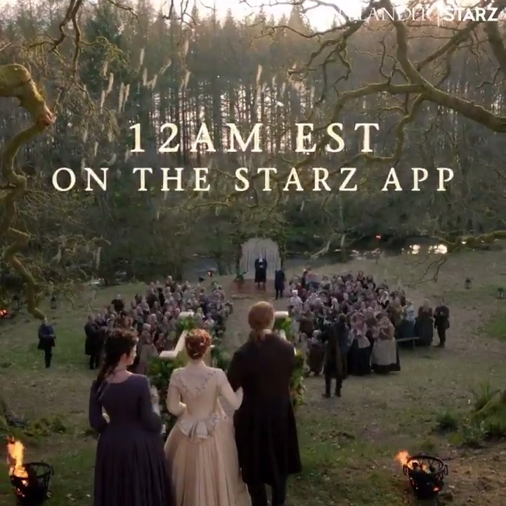 SURPRISE! 🎉That's right, you heard us, clan. We're dropping the first episode of #Outlander Season 5 EARLY. Watch it tonight at 12AM EST on the @STARZ App.
