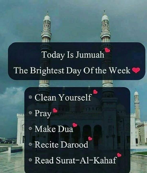 BRIGHTEST DAY OF THE WEEK.  #JummahMubarak <br>http://pic.twitter.com/aJxiwE33hE