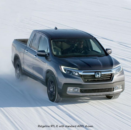 Get some snow on your bumpers. #HondaRidgeline