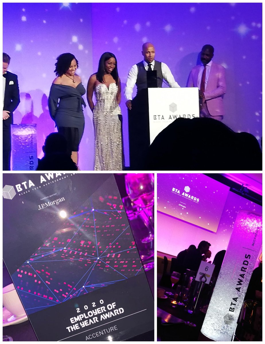 We won!! All down to our amazing @Accenture African Caribbean Network & our wonderful Leadership that enable everyone to thrive! Thank you 🙏 @BTAAwards @RaphaelSofoluke #BlackTechAchievementAwards #EmployerOfTheYear https://t.co/OBHcAREcQP