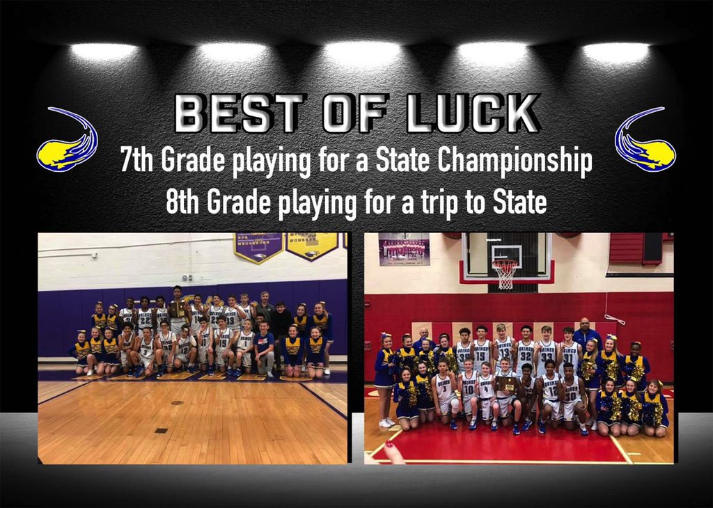 Super proud of these young men and coaches. 7th grade playing for the title and 8th for a chance to go to state. Great job fellas. Continue to grow each and every day. Go get em! #BlueDevilPride #Comets<br>http://pic.twitter.com/ID4MVGHIH7