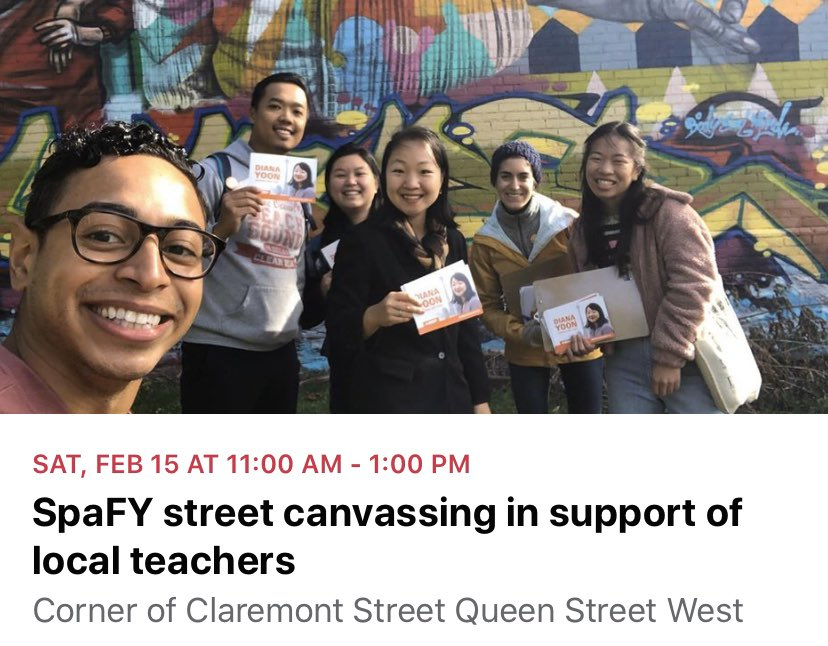 Join us on Saturday 11am-1pm to canvass in support of local teachers #onted #spafy   Event:  https:// facebook.com/events/s/spafy -street-canvassing-in-sup/820595731700545/?ti=icl  … <br>http://pic.twitter.com/8VPyMJE84h