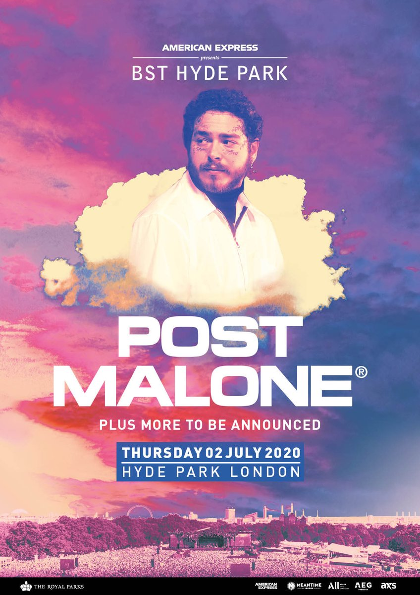 """London. i'm coming to @BSTHydePark. On-sale 9am tomorrow (14/2). yall get tickets early using password """"Circles"""" right now: bst-hydepark.com/tickets/2-july…"""