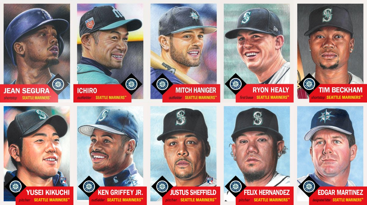 Here are the newest #ToppsLivingSet team sets for the Seattle Mariners and Miami Marlins with the additions of Edgar Martinez and Brad Ziegler from yesterday.  Mariners - 10 Marlins - 8