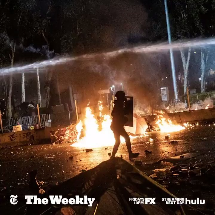 "Now on @hulu: ""After this experience at PolyU, I will never look at the world in the same way."" A protester describes the fight between Hong Kong anti-government protesters and the city's police that reached its climax at @HongKongPolyU. #TheWeeklyNYT https://nyti.ms/3bzWZ3h"