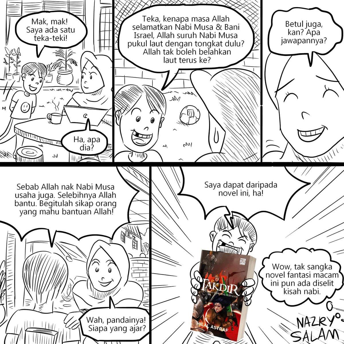 Komik #94  Novel dan komik pun boleh jadi sumber ilmu juga. Contohnya novel @HilalAsyraf dan komik Misi.  #komikNazrySalam #NazrySalam #komikMalaysia #SkuadMisipic.twitter.com/MVjPh0iulB