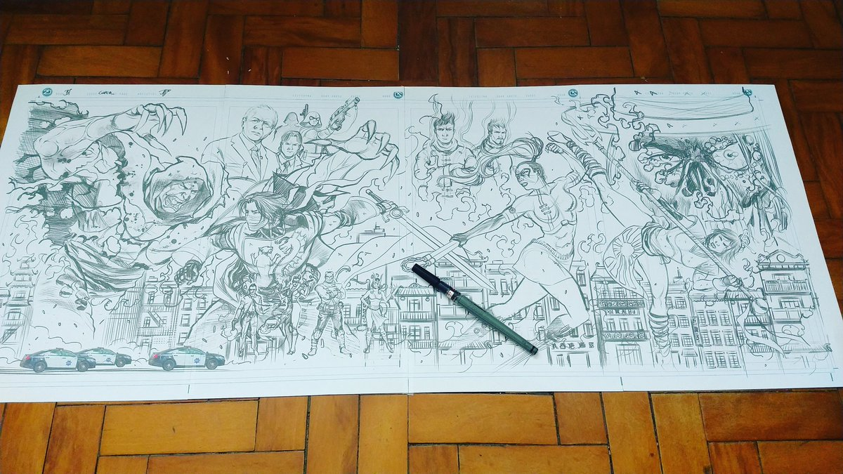 Time to make some ink on the Black Tiger: Legacy of Fury wrap Cover. . . Lots and lots of details to do still but, I loved it. . #comicbooks #indiecomics #makingcomics #KungFuFighting #martialarts #rodluperpic.twitter.com/1IfXUwBpPc