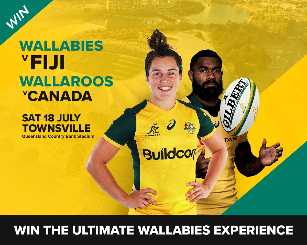 Want to WIN the ultimate #Wallabies experience including a double pass to our Townsville Test match against Fiji? To enter: 1. Tag 3 mates & 2. In 25 words or less comment below & describe why you are the #Wallabies biggest fan! T&Cs: bit.ly/WalComp_TCs