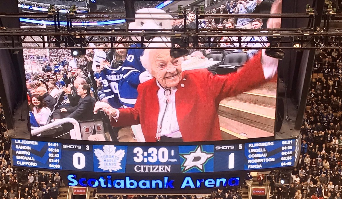 Hurricane Hazel McCallion in the house on her 99th birthday. #LeafsForever #Mississauga