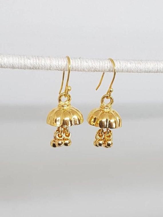 Small Jhumka Earrings, 925 Silver Earrings, #jewelry #earrings @EtsyMktgTool https://etsy.me/2mudGIt #jhumkaearrings #smalljhumkaearringpic.twitter.com/4CyeL4npc3
