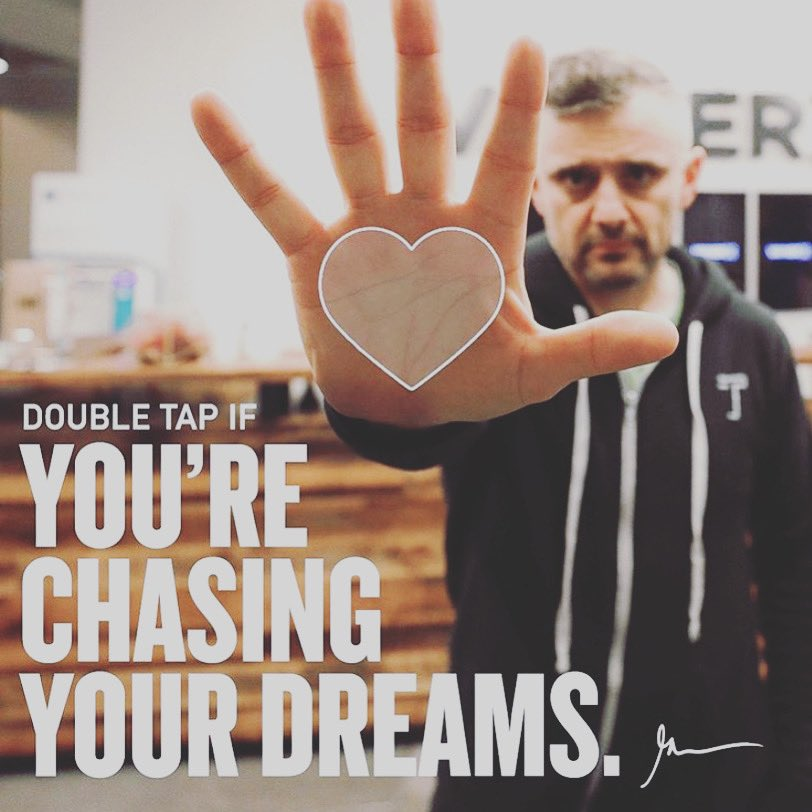 """And more importantly executing on them!"" - @garyvee  - #KeepGrinding #ChaseYourDreams You can't double tap here but like and share the post pic.twitter.com/9bwtSb2HTj"