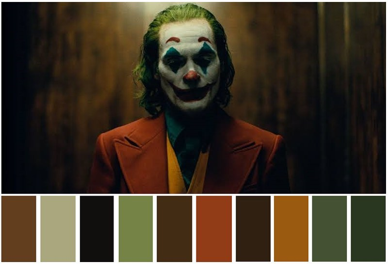 Paleta de colores de #Joker (2019). pic.twitter.com/c7pzlwCSdd
