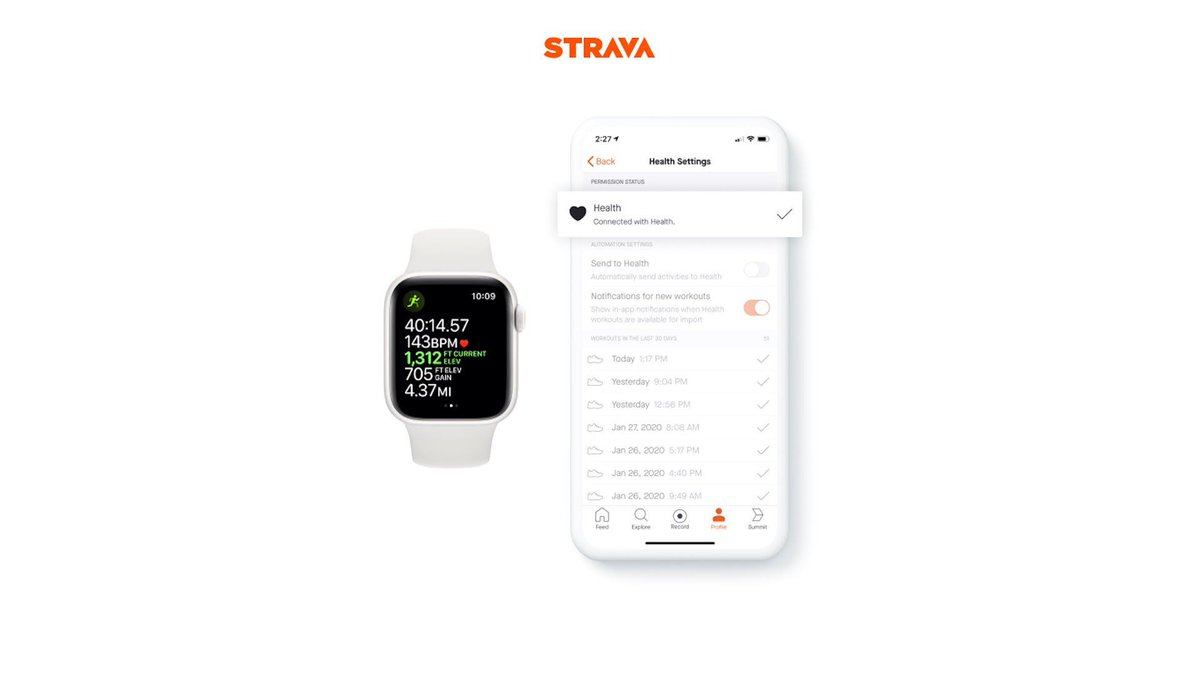 You can now directly sync Apple Watch workouts to Strava