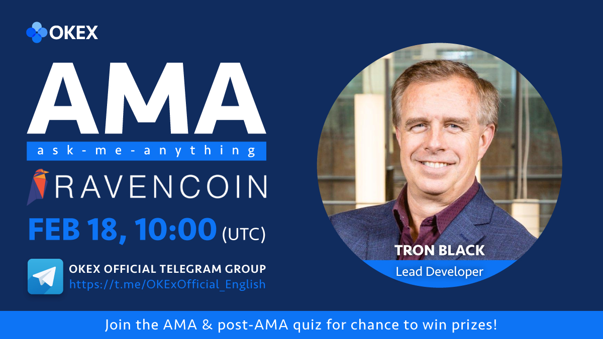 AMA with @Ravencoin $RVN's @tronblack happening tomorrow! Make sure you leave your Qs about our upcoming listing in this tweet ➡