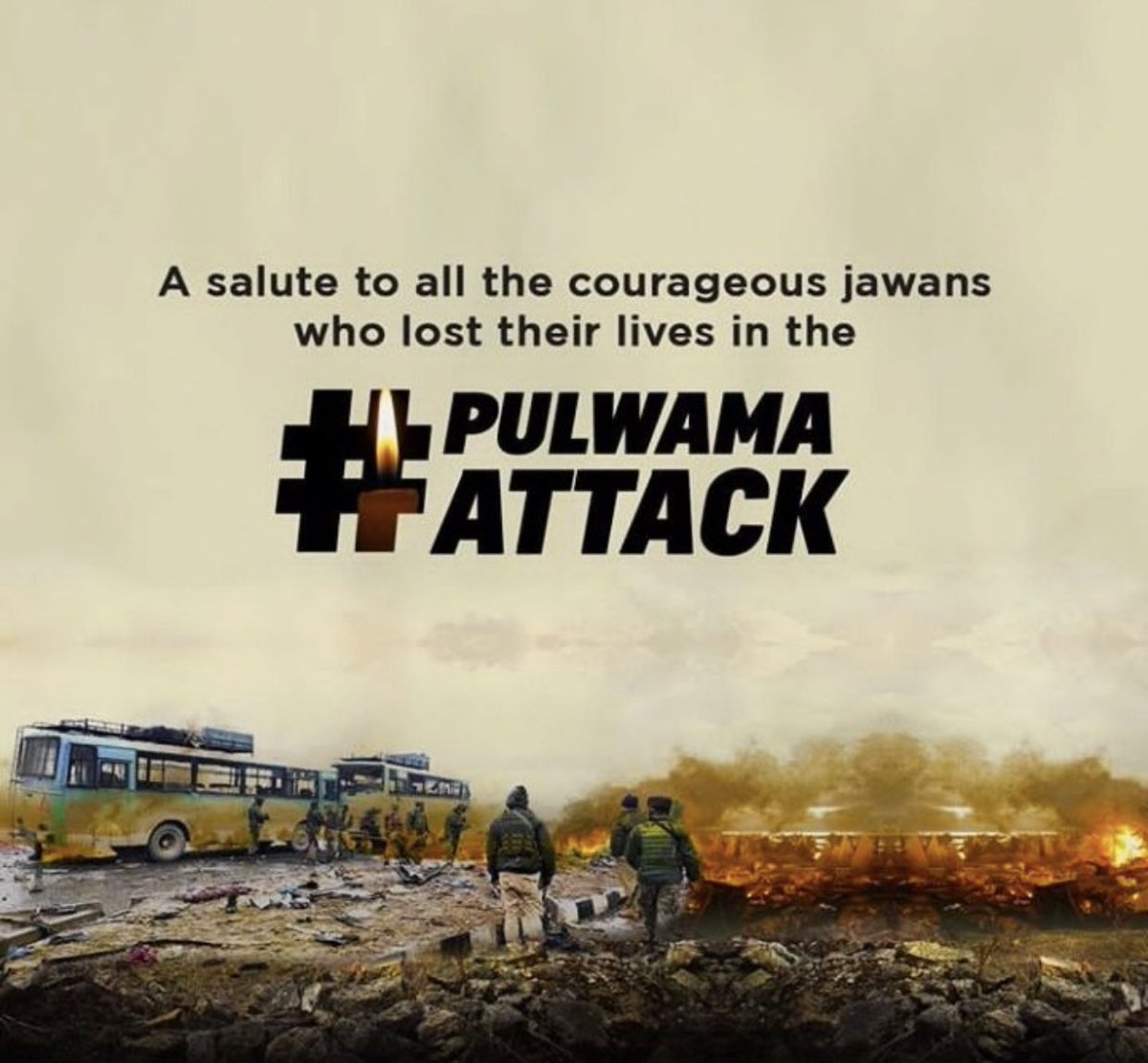 Remembering the brave CRPF soldiers who lost their lives in the #PulwamaTerrorAttack . #BlackDay