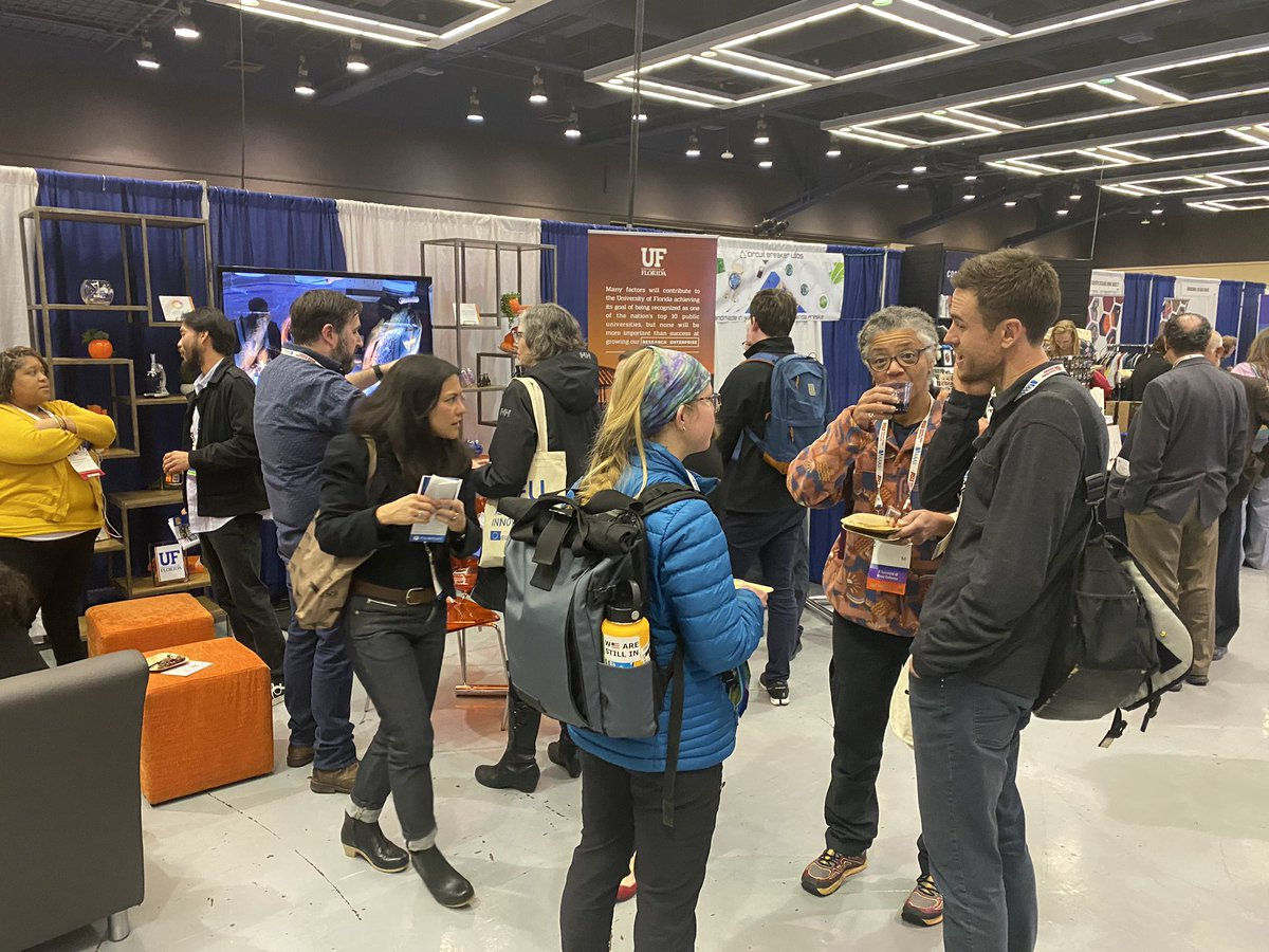 Our @uf booth is hopping at #AAAS2020. C'mon over.