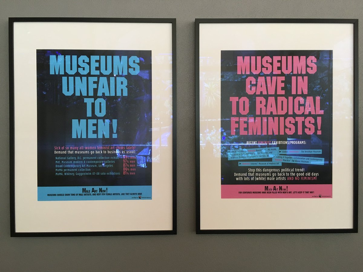"Loved these satirical @guerrillagirls posters in the @Auckartgal.  Reminds of when I'm asked ""Why a Women in Engineering-themed prize/event/award/fellowship?""pic.twitter.com/etTEWayIod"