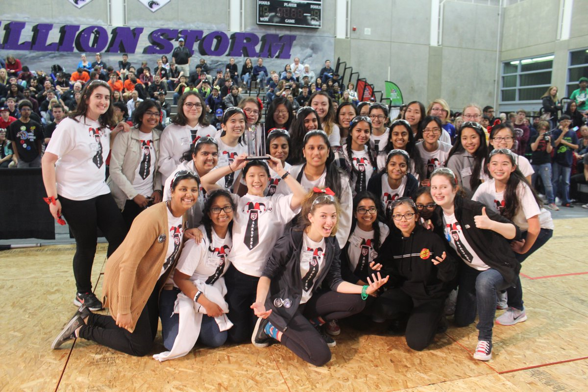 As Week 6 of Build Season comes to a close, let's take a #throwbackthursday to The Janksters at FRC 2016's game, FIRST Stronghold! Looking back at our past victories, we strive to achieve the same success this year! #robotics #frc #infiniterecharge #girlsinSTEM #bowsnbots https://t.co/vBGzX0PYlv