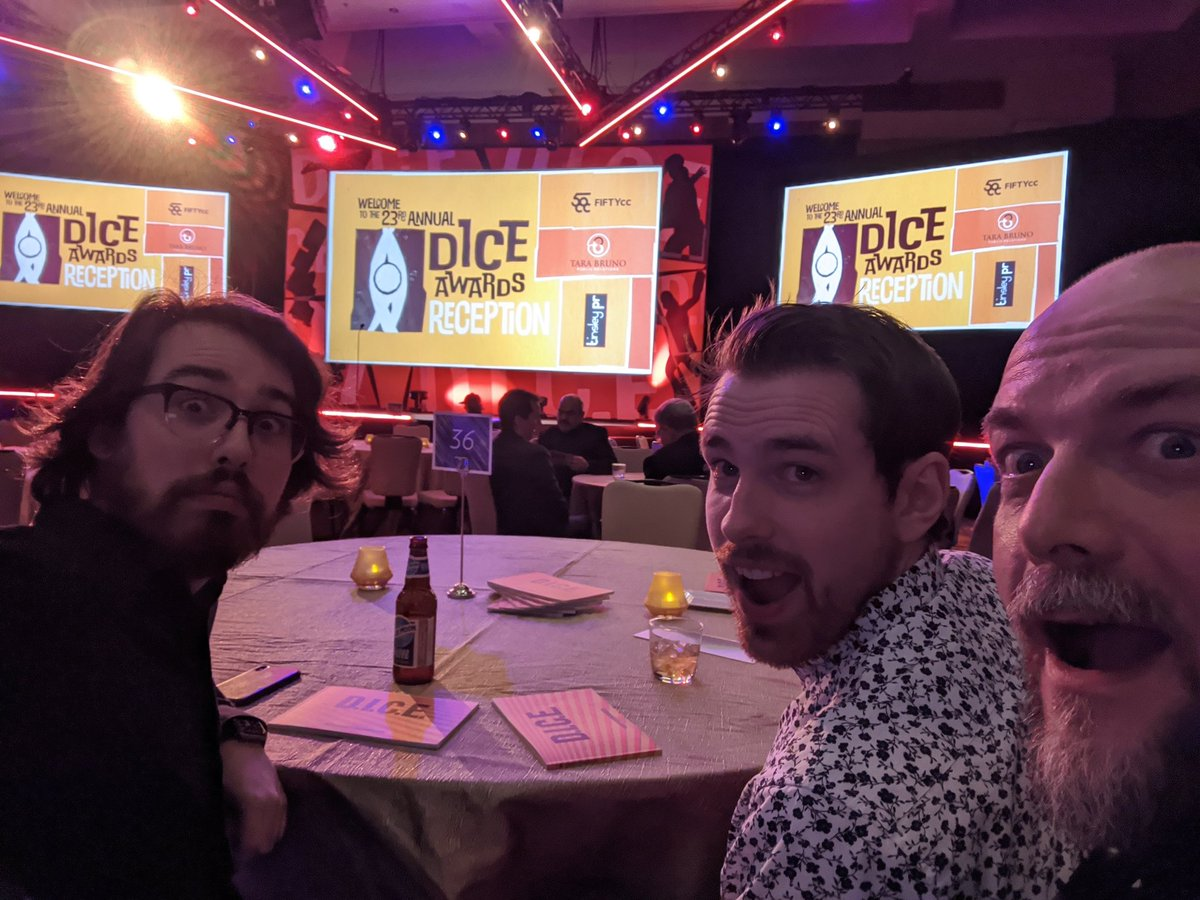 Anxiously awaiting #DICEAwards for @PistolWhipVR